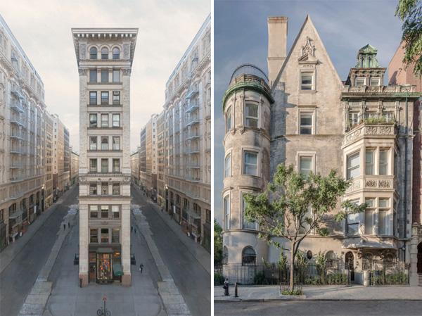 משמאל: Nineteen street. צילום: Marc Yankus