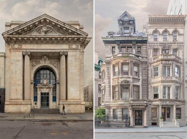 מימין: west 72nd street. משמאל: Bank on eighth. צילום: Marc Yankus