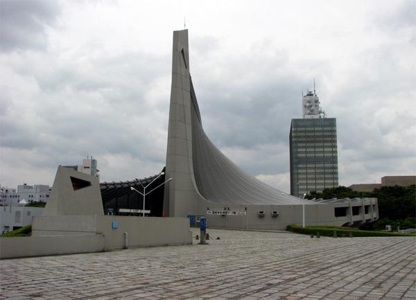 האצטדיון האולימפי 1964 בתכנונו של Kenzo Tange
