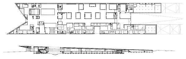 תוכנית וחתך מבנה המוזיאון הלאומי של אסטוניה