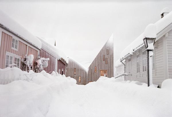 המוזאון באוסלו מכוסה שלג. צילום: Erik Hattrem
