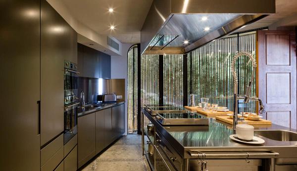 מטבח מודרני בשילוב נירוסטה. צילום: Fernando Alda
