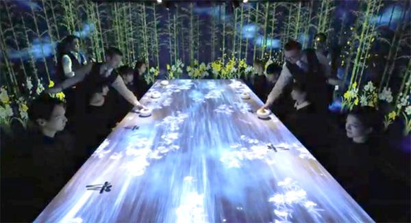 מסעדה אינטראקטיבית בטוקיו