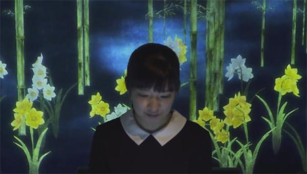 מסעדה אינטראקטיבית ביפן - הקרנה על הקירות