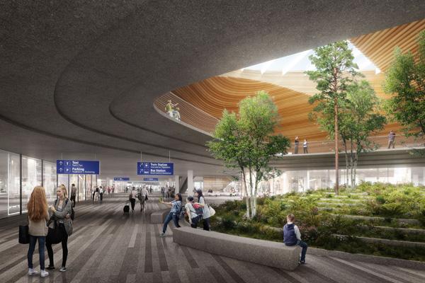 חללים ירוקים בשדה התעופה החדש של הלסינקי