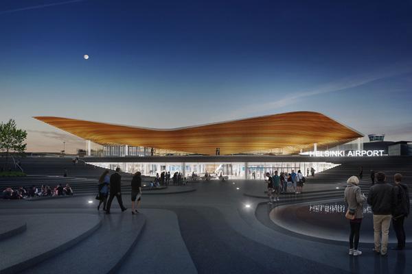כיכר ציבורית חדשה בשדה התעופה של הלסינקי