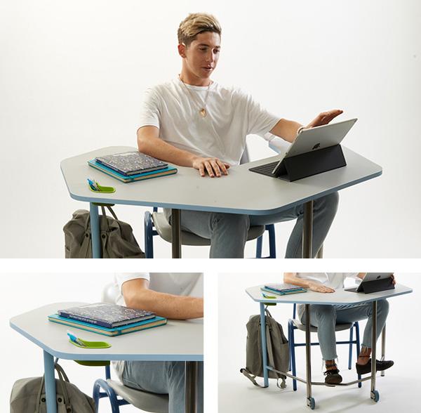 מילה מינץ TAB +  - שולחן לבית ספר המבוסס על שיטת PBL. צילום: שחר תמיר