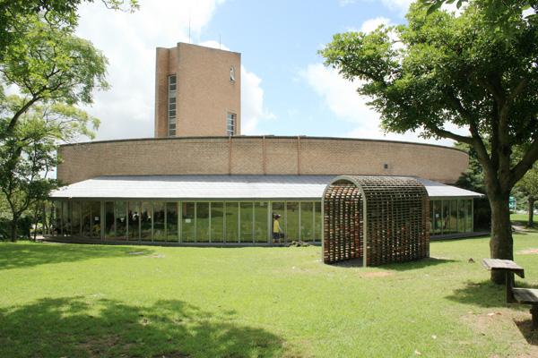 המבנה הוצב מחוץ למוזיאון באי Jeru בדרום קוריאה