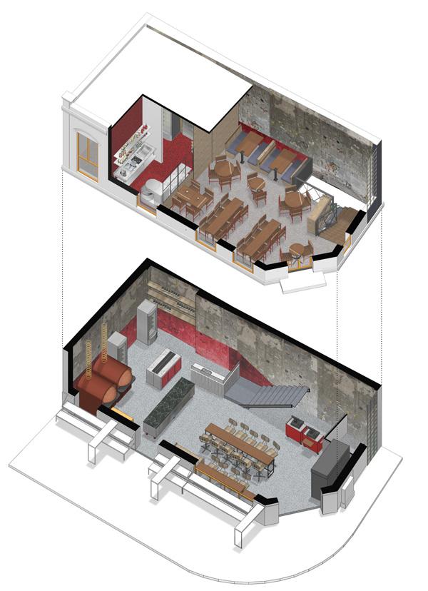 הדמיית 2 קומות הפיצריה