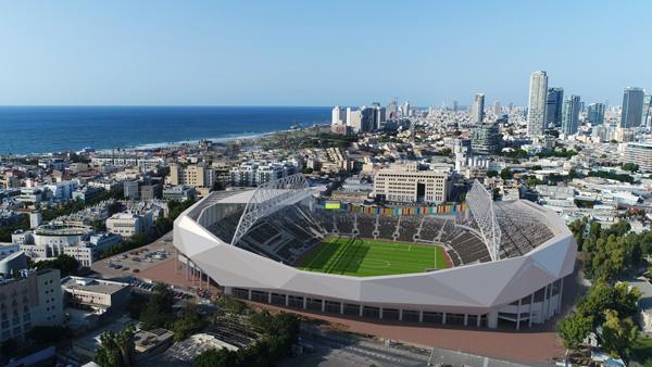 הדמיית יום של האצטדיון החדש. באדיבות מנספלד קהת אדריכלים