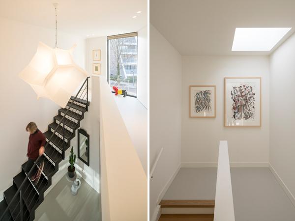 גם המסדרונות שטופים באור טבעי בזכות חלונות סקיילייט