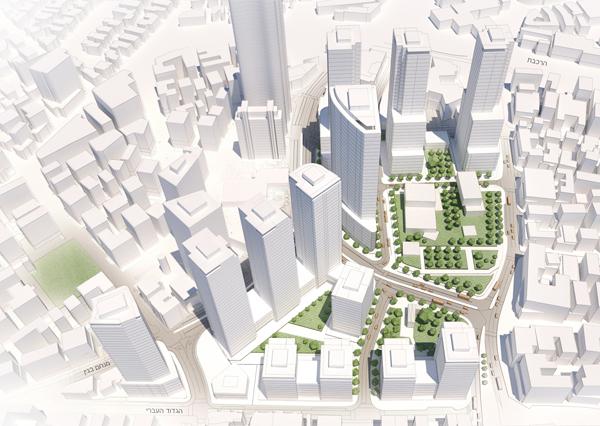 מבט מכיוון דרום. קייזר אדריכלים ומתכנני ערים