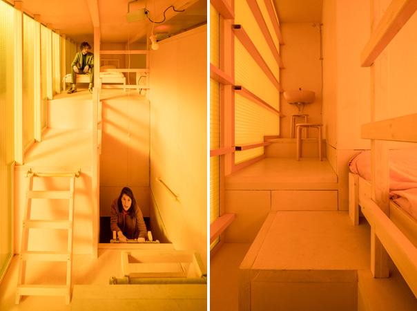 בתוך חלל המגורים הצהוב - דרישות מנוגדות קובעות את עיצוב החללים דרך משא ומתן