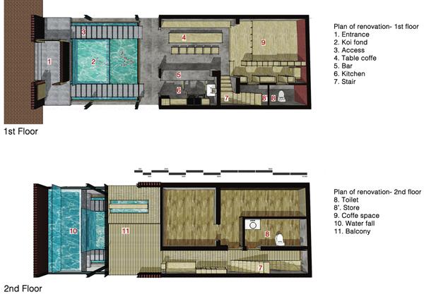 תוכנית קומות 1 ו-2