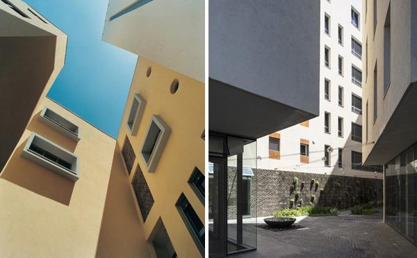 מימין: לבונטין פינת מקווה ישראל - בר אוריין אדריכלים. משמאל: גאולים 56 חולון - פרופ