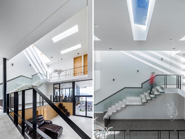 סקיילייט מחדיר אור טבעי נוסף לחלל הציבורי של הבית