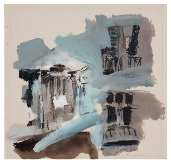 רחל אלקלעי, ציור מתוך סדרת הקיוסקים