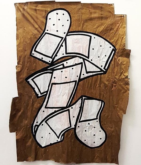 עבודתו של האמן DEDE Bendaid, מתוך התערוכה
