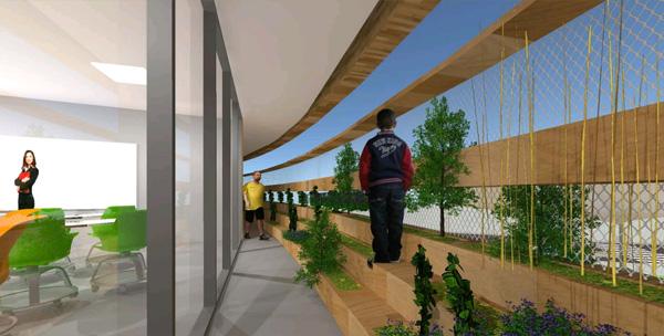 החקלאות מהווה השראה לצורת המבנה, ליואי דבוריינסקי אדריכלים