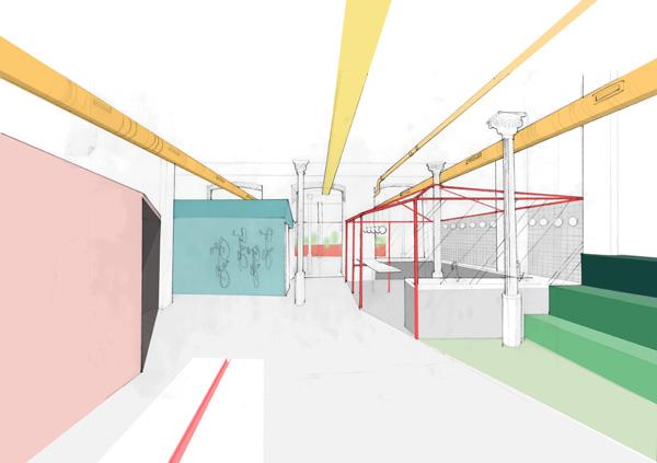 סקיצות צבעוניות. תכנון ועיצוב: CaSA - Colombo and Serboli Architecture