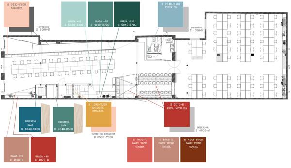תכנית מפלס הכניסה. תכנון ועיצוב: CaSA - Colombo and Serboli Architecture