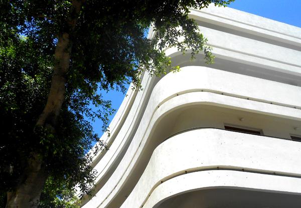 אדריכלות באוהאוס בכיכר דיזנגוף. צילום: מרכז באוהאוס תל אביב