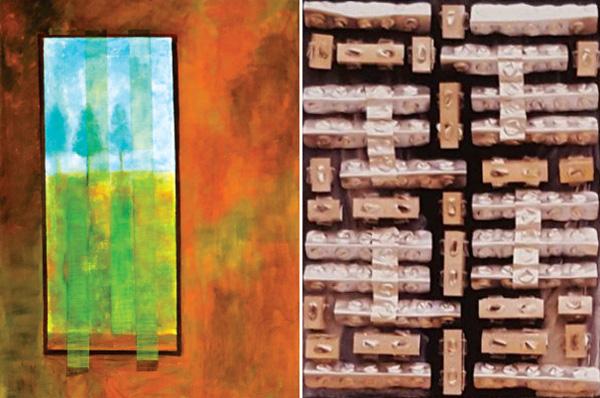 דיאנה פומרנץ, שתי עבודות מתוך התערוכה