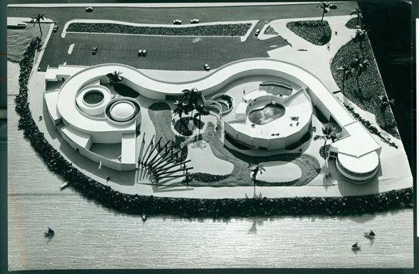 מודל הדולפינריום 1979. צילום: רן ארדה.