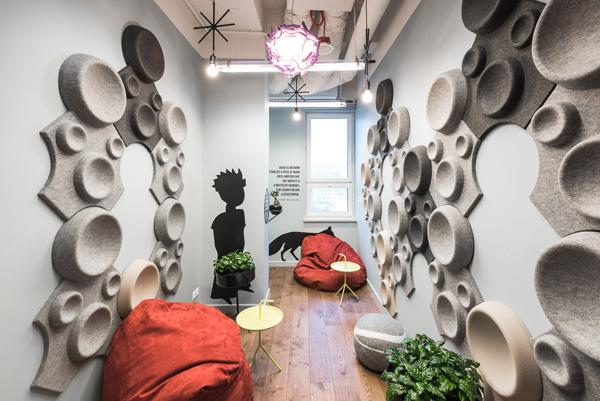 חדר אינטימי להירגעות ומדיטציה. צילום: Patryk Lewiński, Brain Embassy
