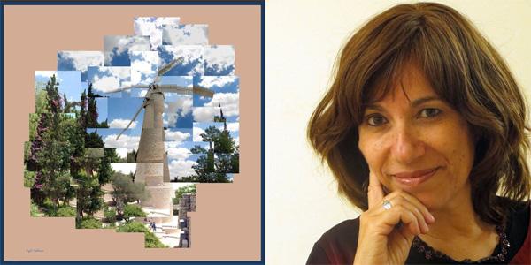 מימין: סיגל אדלמן; משמאל: נופי ירושלים הנשברים, עבודה מתוך התערוכה
