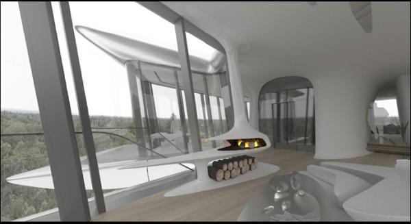 הנוף המשקיף מהמפלס העליון. הדמיה: Zaha Hadid Architects