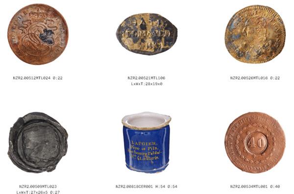 חפצים שונים מתחילת המאה ה-19.  [צילום מסך]