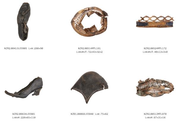 חפצים המתוארכים לשנים 1850-1940.  [צילום מסך]