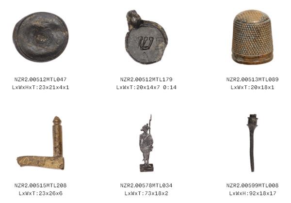חפצי מתכת בין השנים 1400-1600 לספירה [צילום מסך]
