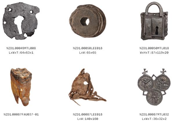חפצי מתכת מהמאה ה-15 [צילום מסך]