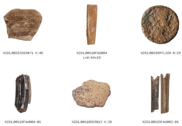 חפצים שונים, המתוארכים לתקופה שבין המאה ה-2 עד המאה ה-13 לספירה [צילום מסך]