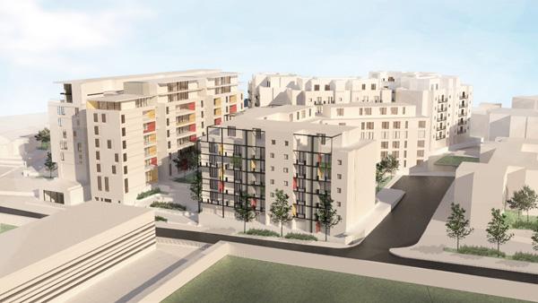 הדמיית הפרויקט בשכונת עג