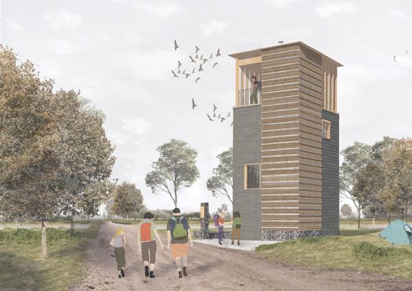ההצעה הזוכה של האדריכלים ארתור שולר וקורנטין דאלון. הדמיה באדיבות: BEE BREEDERS