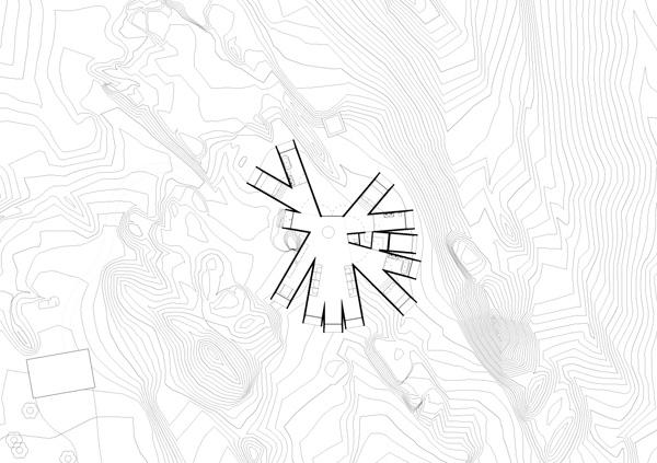 תכנית קומת הקרקע, תכנון: Whitaker Studio