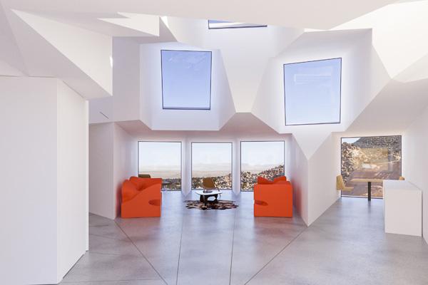 מיצבים של רון ארד בולטים בחלל הנקי, תכנון והדמיה: Whitaker Studio