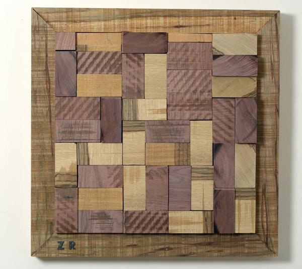 רונן זפרני, תבליט עץ. מתוך התערוכה