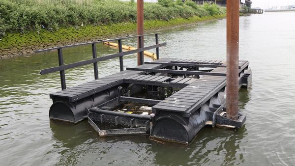 מלכודת הפסולת הימית. צילום: Recycled Island Foundation