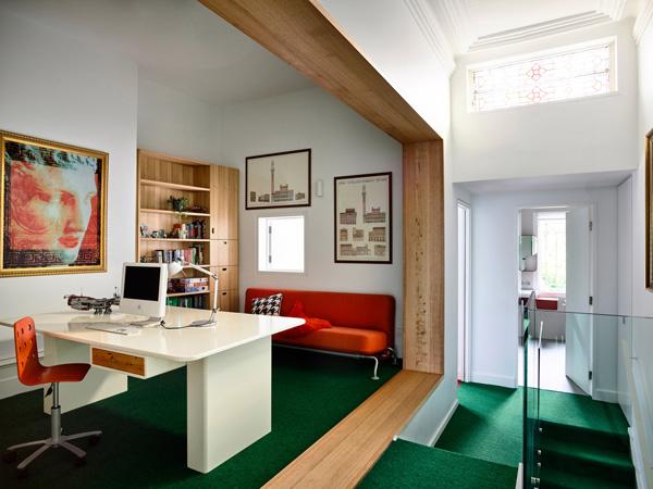לכל חלל אופי וסגנון שונים. תכנון: Austin Maynard Architects, צילום: Derek Swalwell