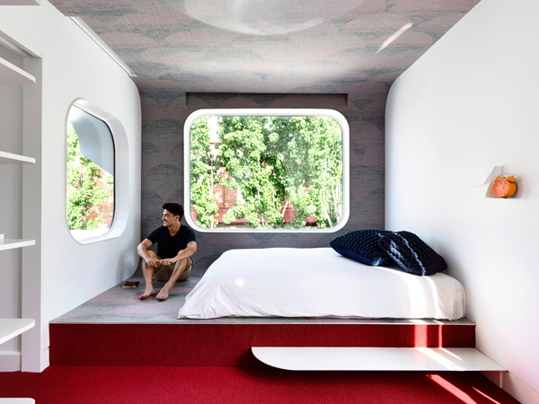 אווירה ונוף בחדרי השינה. תכנון: Austin Maynard Architects, צילום: Derek Swalwell