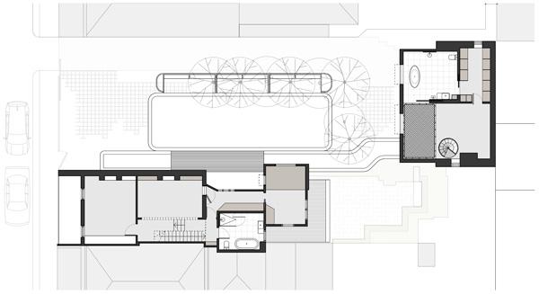 תכנית קומה ראשונה. תכנון: Austin Maynard Architects