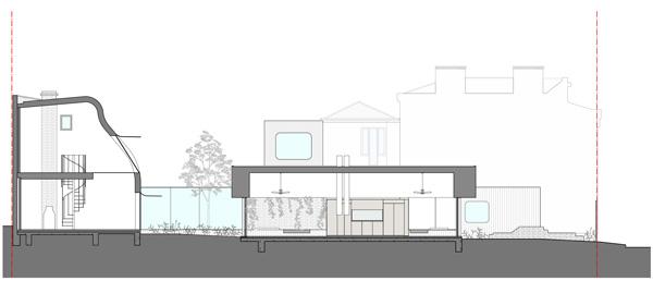 חתך A. תכנון: Austin Maynard Architects
