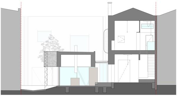 חתך B. תכנון: Austin Maynard Architects