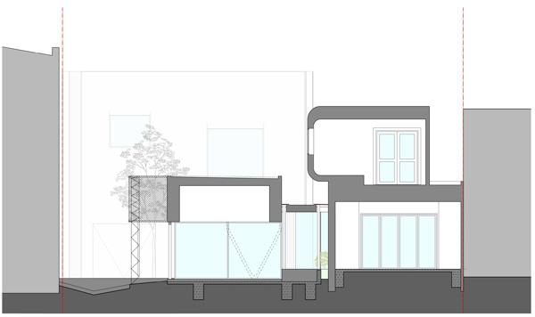 חתך C. תכנון: Austin Maynard Architects