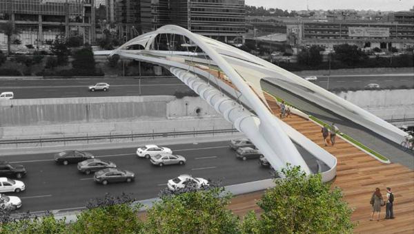 גשר יהודית. הדמיה: חן אדריכלים