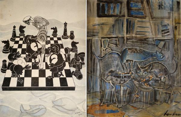 עבודות נוספות של סיונה לב, מתוך התערוכה בעין הוד. צילום: מוטי טייכר